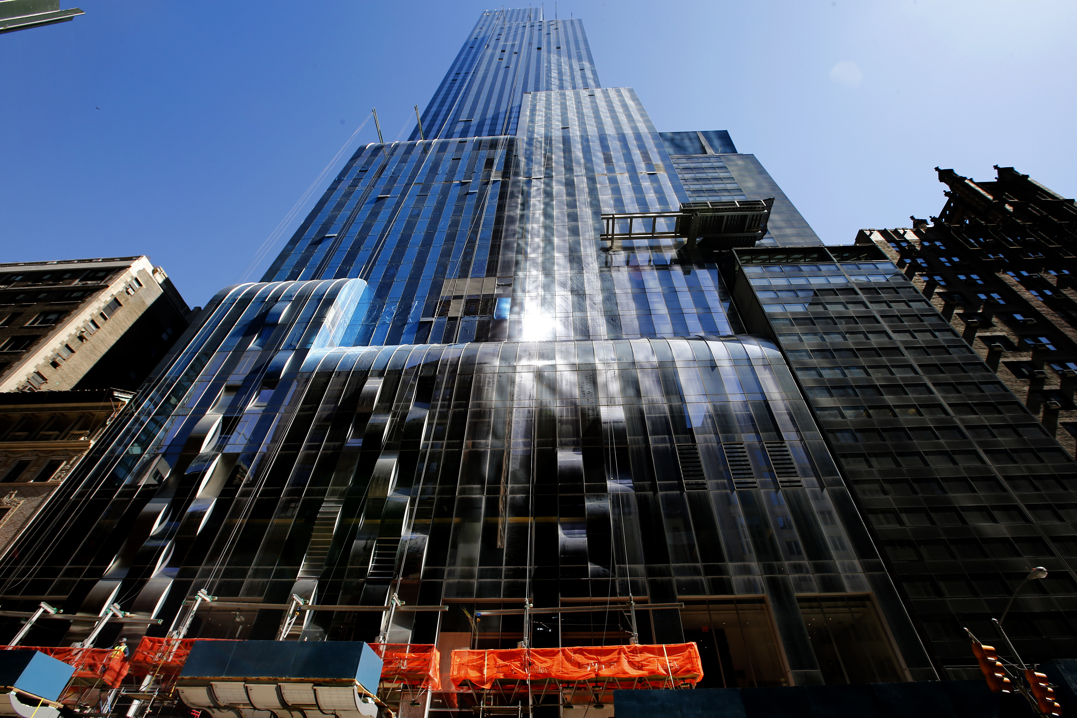 One57, a new luxury skyscraper apartment building designed by French architect Christian de Portzamparc which is under construction on New York City's West 57th street