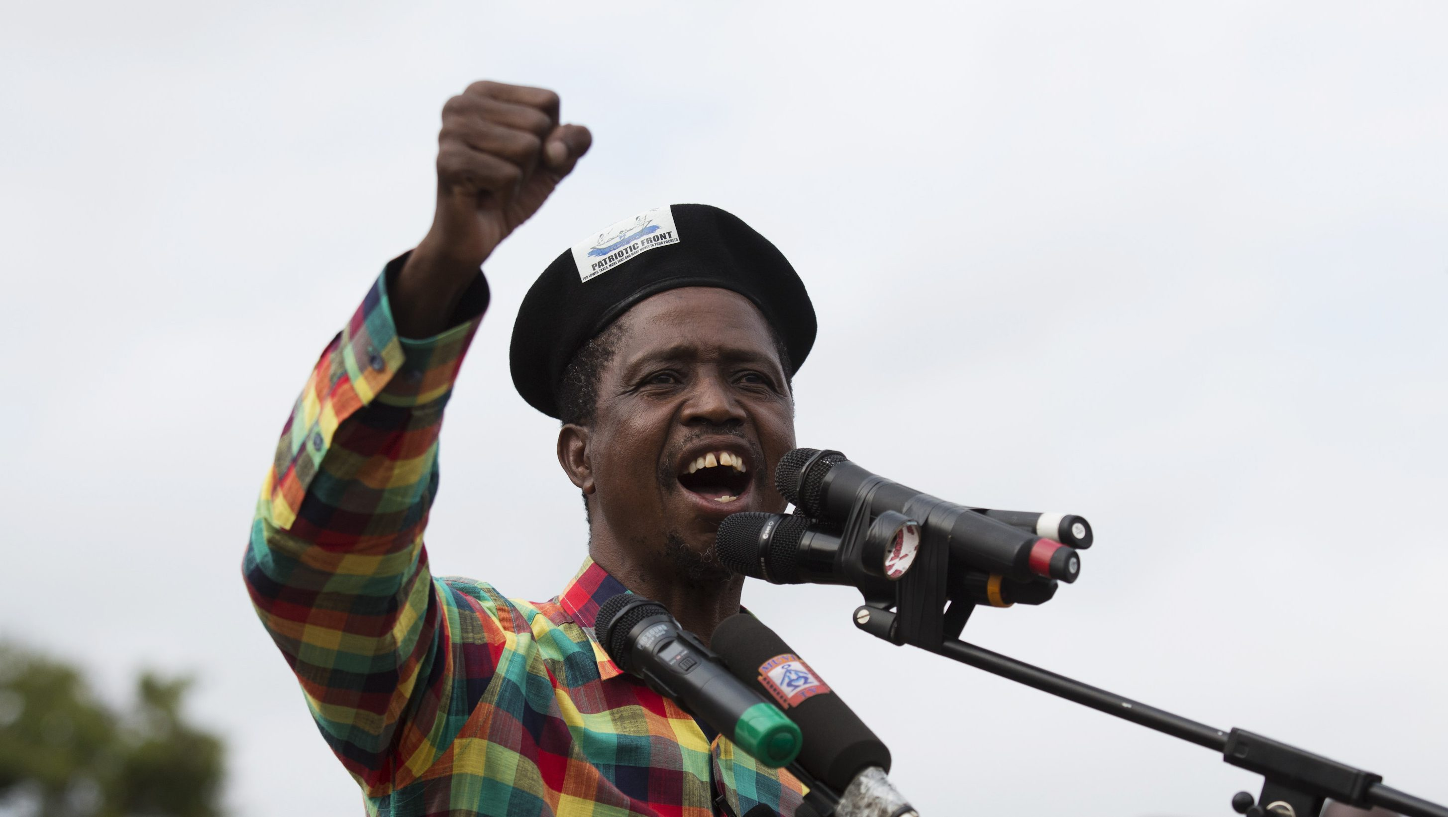 Patriotic Front (PF) Presidential candidate Edgar Lungu speaks at a rally in Lusaka January 19, 2015. Lungu's rapid rise from backroom politician to presidential front-runner in one of Africa's most promising frontier markets has revealed tactical nous and a steely determination that few knew lay beneath his quiet exterior. Zambians go to the polls on January 20, 2015 following the death of President Michael Sata in October 2014.