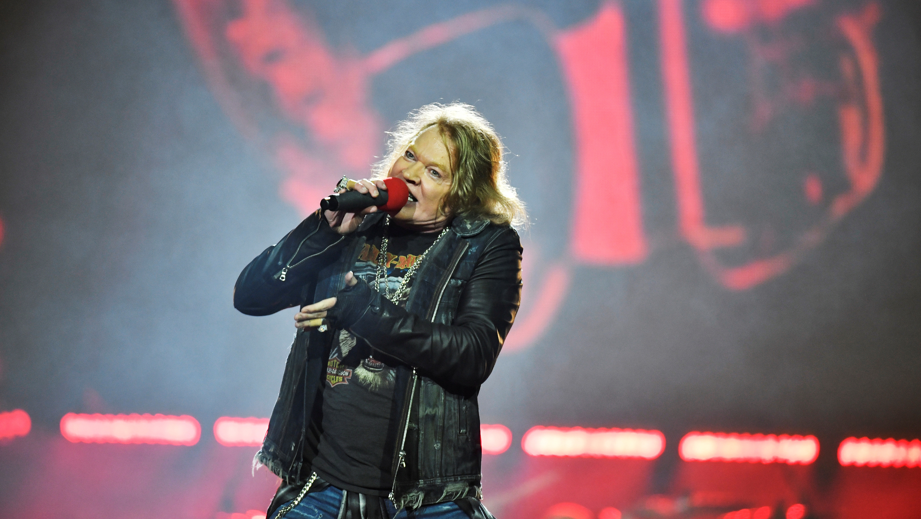 Axl Rose, lead singer of U.S. rock band Guns N' Roses, performs during a concert at Friends Arena in Stockholm, Sweden, June 29, 2017. TT News Agency/Vilhelm Stokstad via REUTERS    ATTENTION EDITORS - THIS IMAGE WAS PROVIDED BY A THIRD PARTY. SWEDEN OUT. - RTS196K4