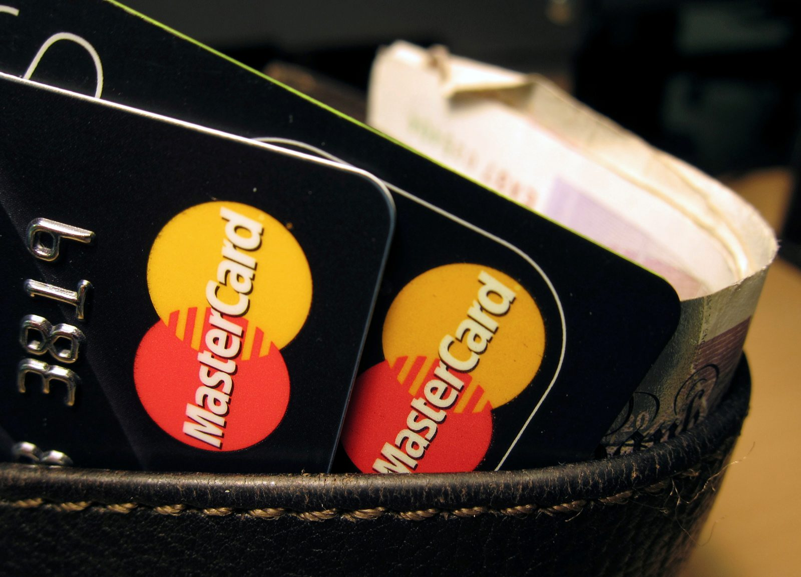 MasterCard credit cards are seen in this illustrative photograph shot December 8, 2010.