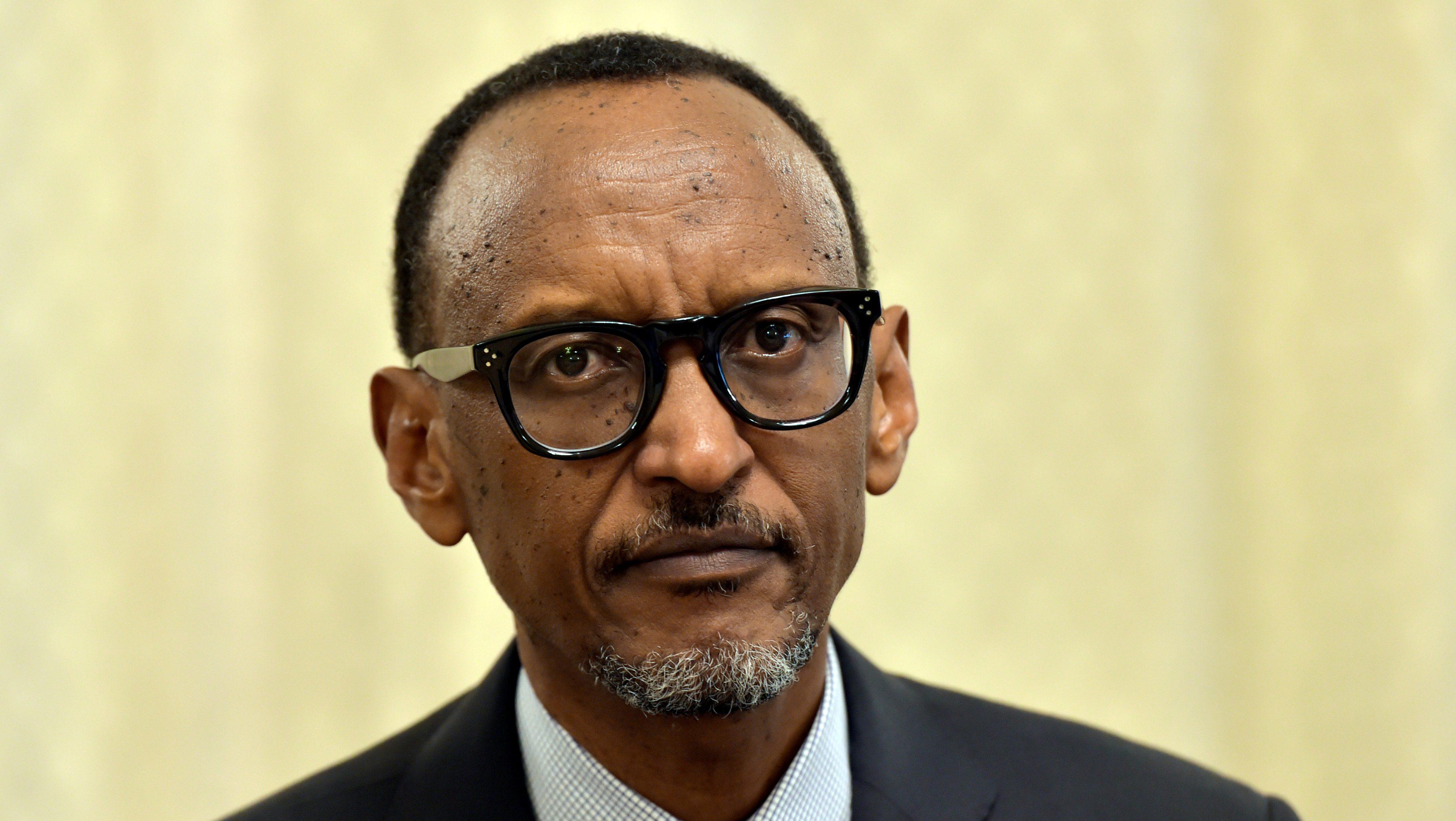 Rwanda's President Paul Kagame looks on as he meets Belgium's Prime Minister Charles Michel in Brussels, Belgium June 8, 2017.