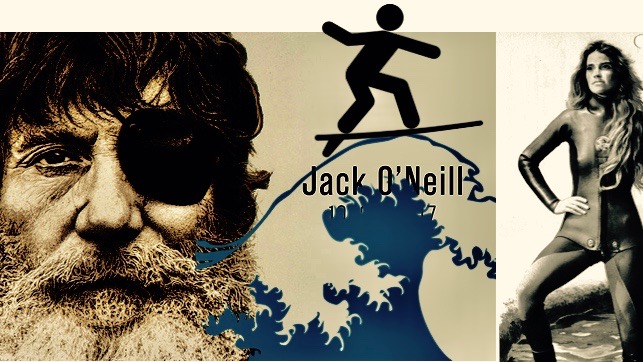 Jack O'Neill and 1970 wetsuit.