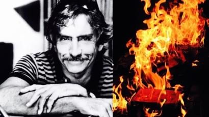 Young Edward Albee and a burning book.