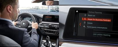 The new BMW 5 series will include Skype for Business.