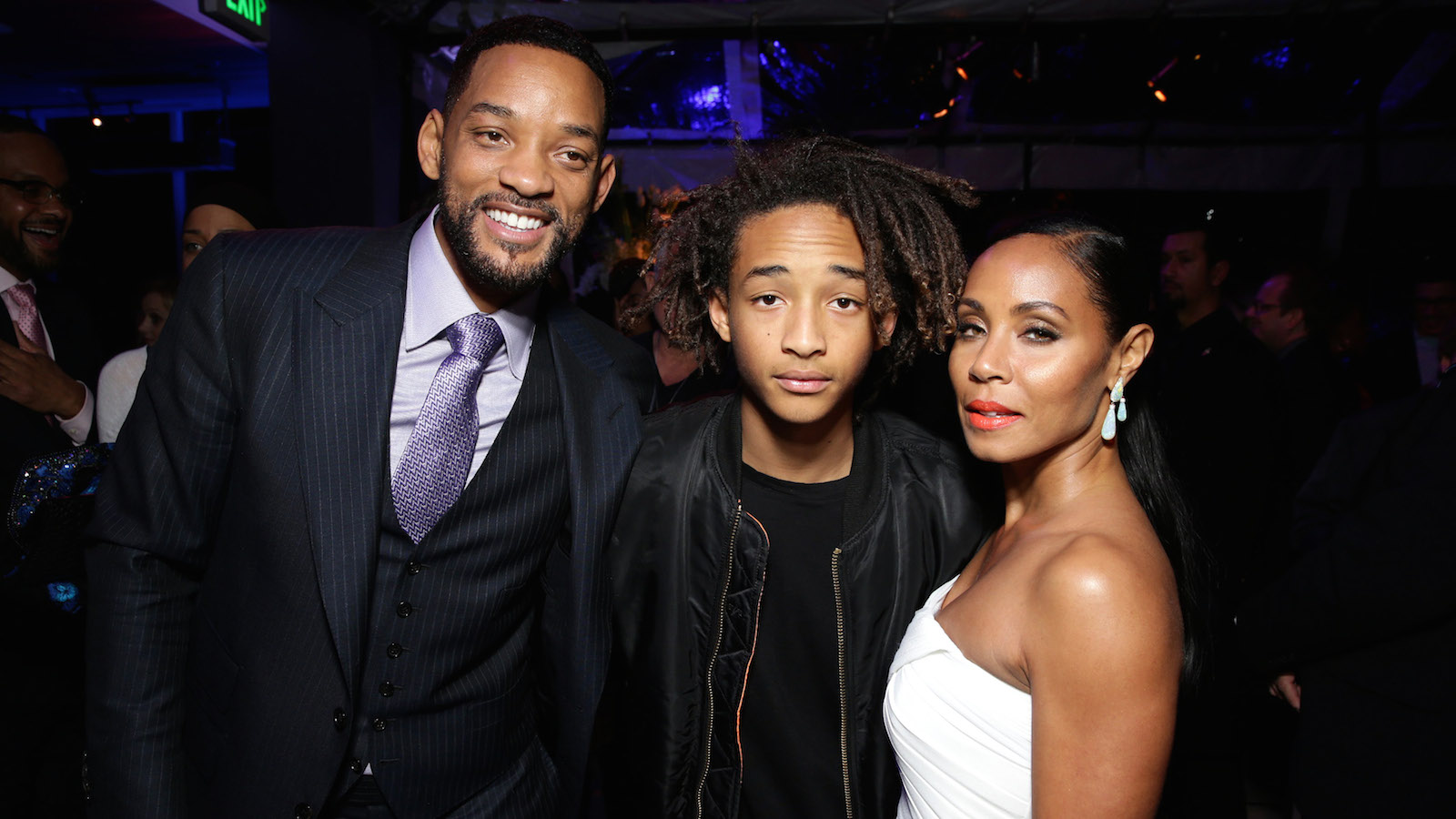 """Will Smith, Jaden Smith and Jada Pinkett Smith seen at the Los Angeles Premiere of Warner Bros. Pictures' """"Focus"""" on Tuesday, Feb 24, 2015 in Hollywood. (Photo by Eric Charbonneau/Invision for Warner Bros./AP Images)"""
