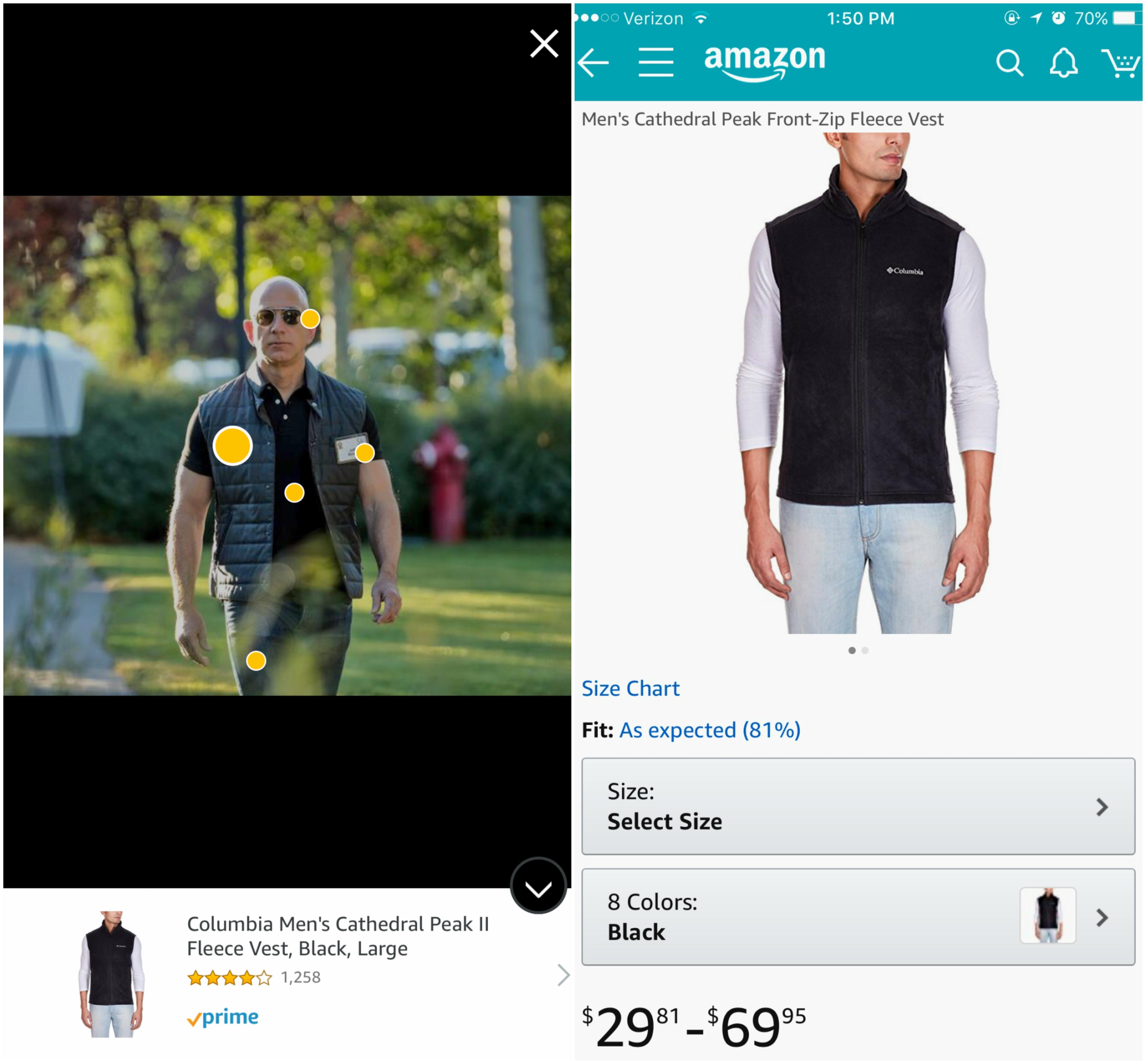 Screenshots of Amazon Spark