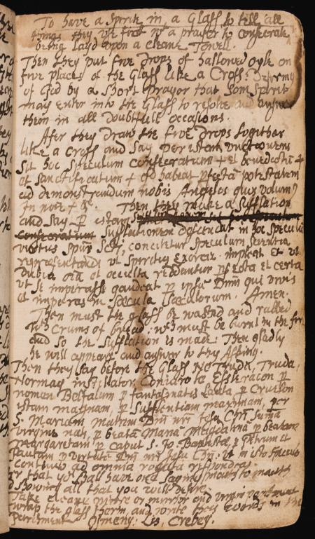 Rare spellbook manuscript details how witchcraft was done in the