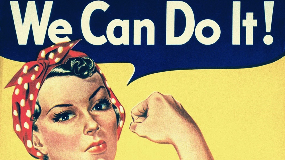 We Can Do It classic WWII propaganda poster.