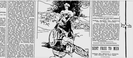 Bicycle newspaper clipping