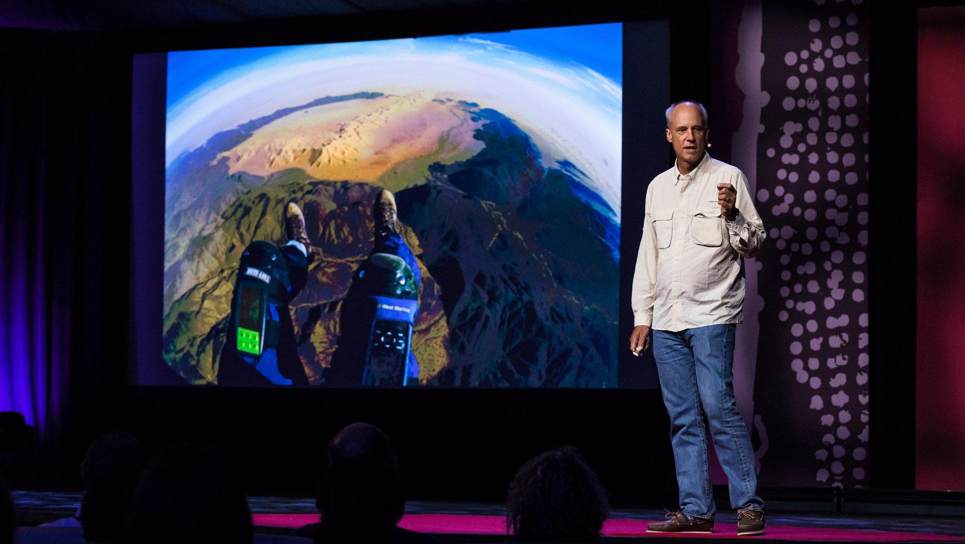 George Steinmetz speaks at TEDGlobal 2017 - Builders, Truth Tellers, Catalysts - August 27-30, 2017, Arusha, Tanzania. Photo: Bret Hartman / TED
