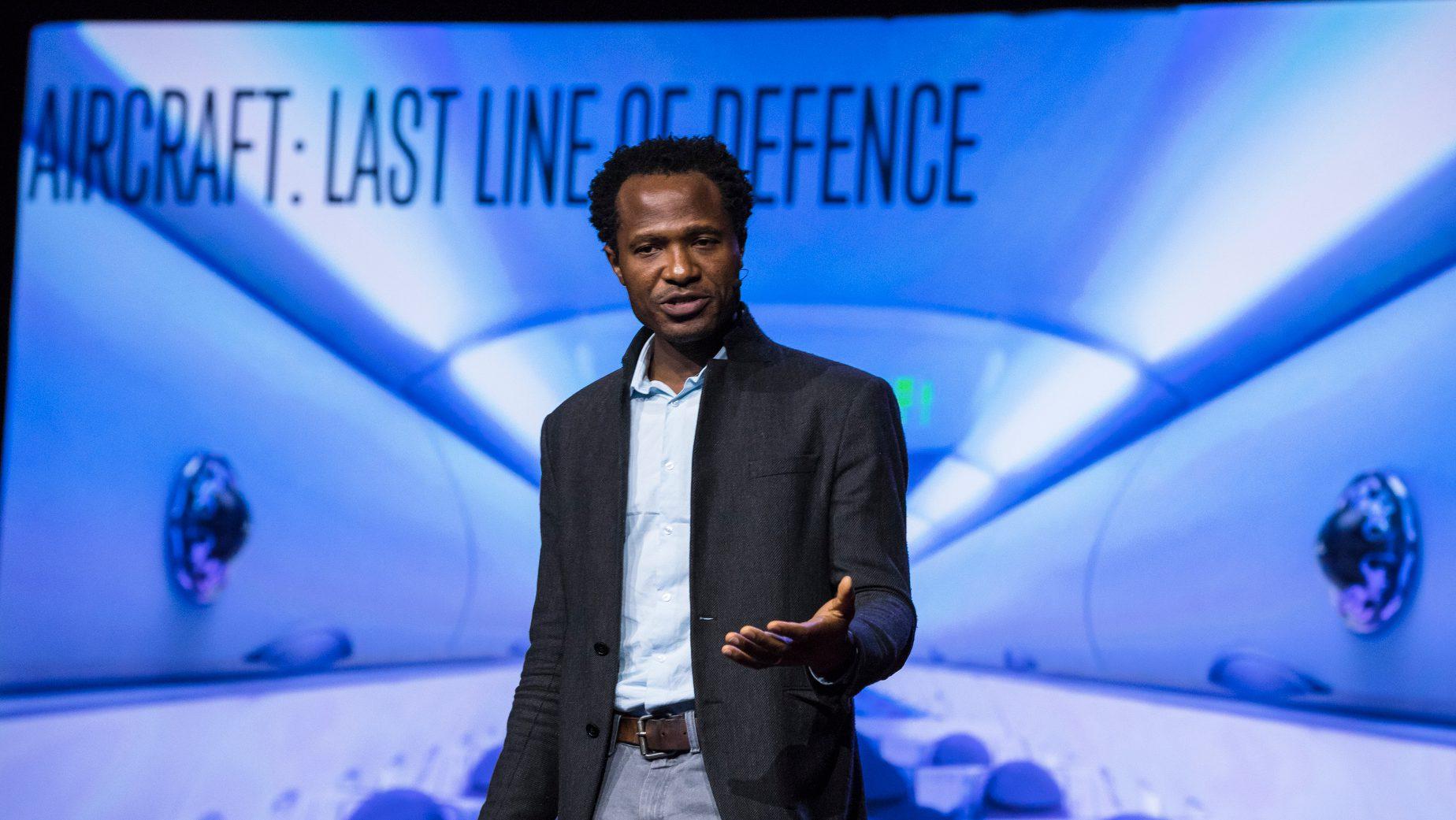 Oshiorenoya Agabi speaks at TEDGlobal 2017 - Builders, Truth Tellers, Catalysts - August 27-30, 2017, Arusha, Tanzania. Photo: