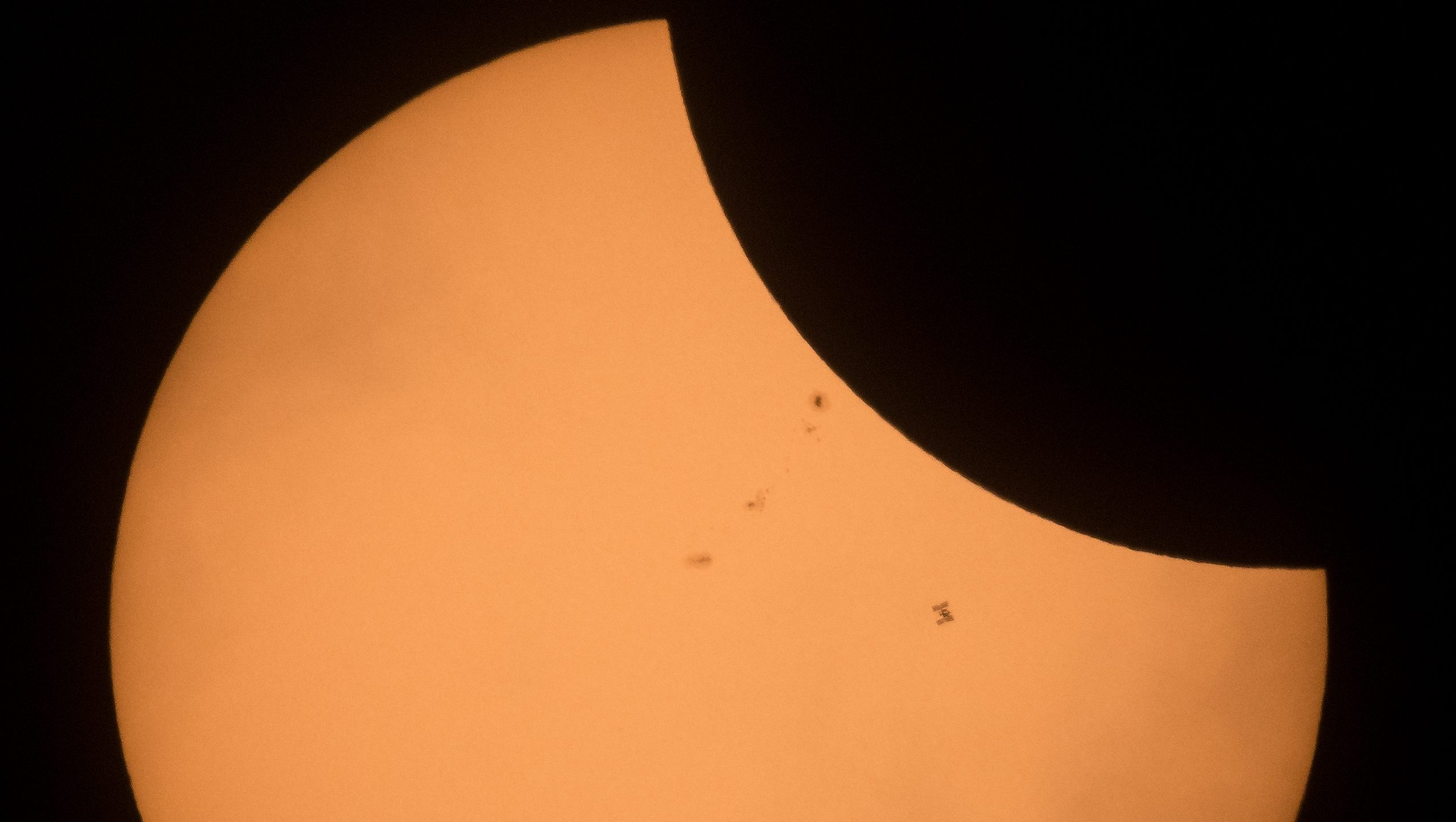 2017 Total Solar Eclipse - ISS Transit