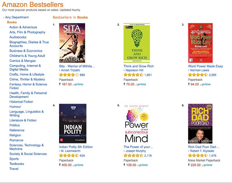 indian writers bestsellers