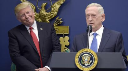 Trump and Mattis—the two big decision-makers on Afghanistan.