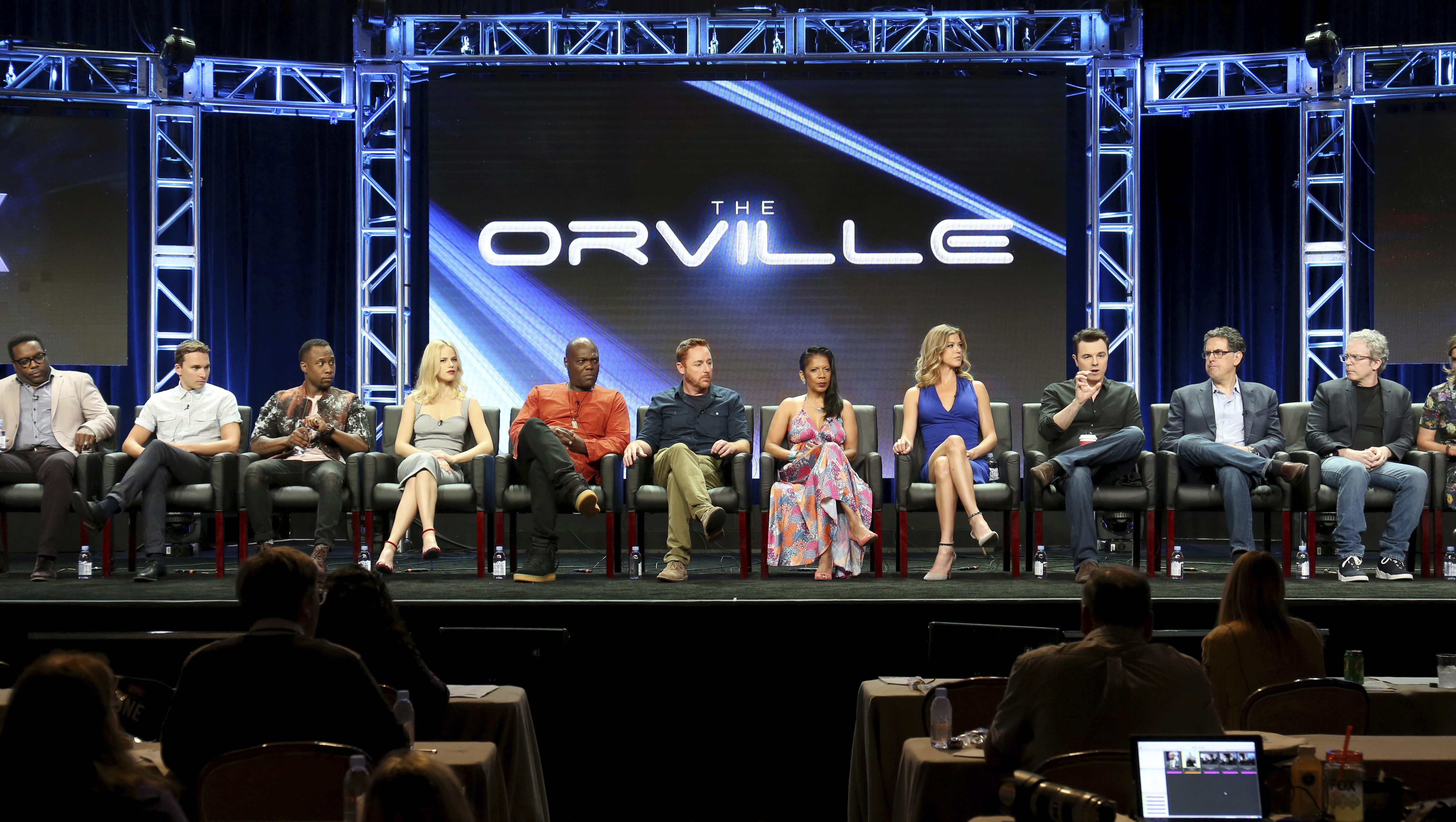 """Cast and creators of Fox TV series """"The Orville"""""""
