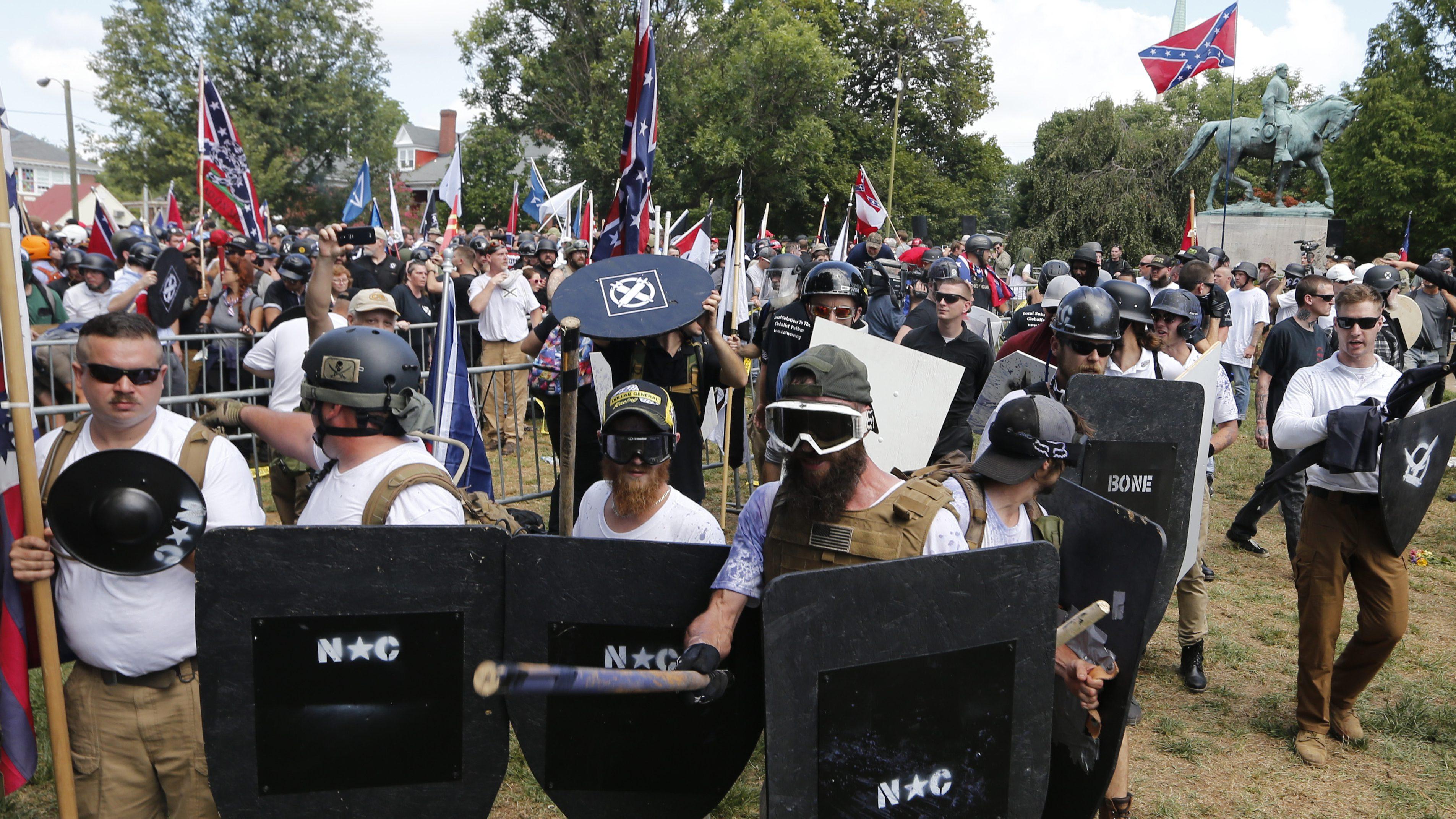white nationalist demonstrators charlottesville virginia