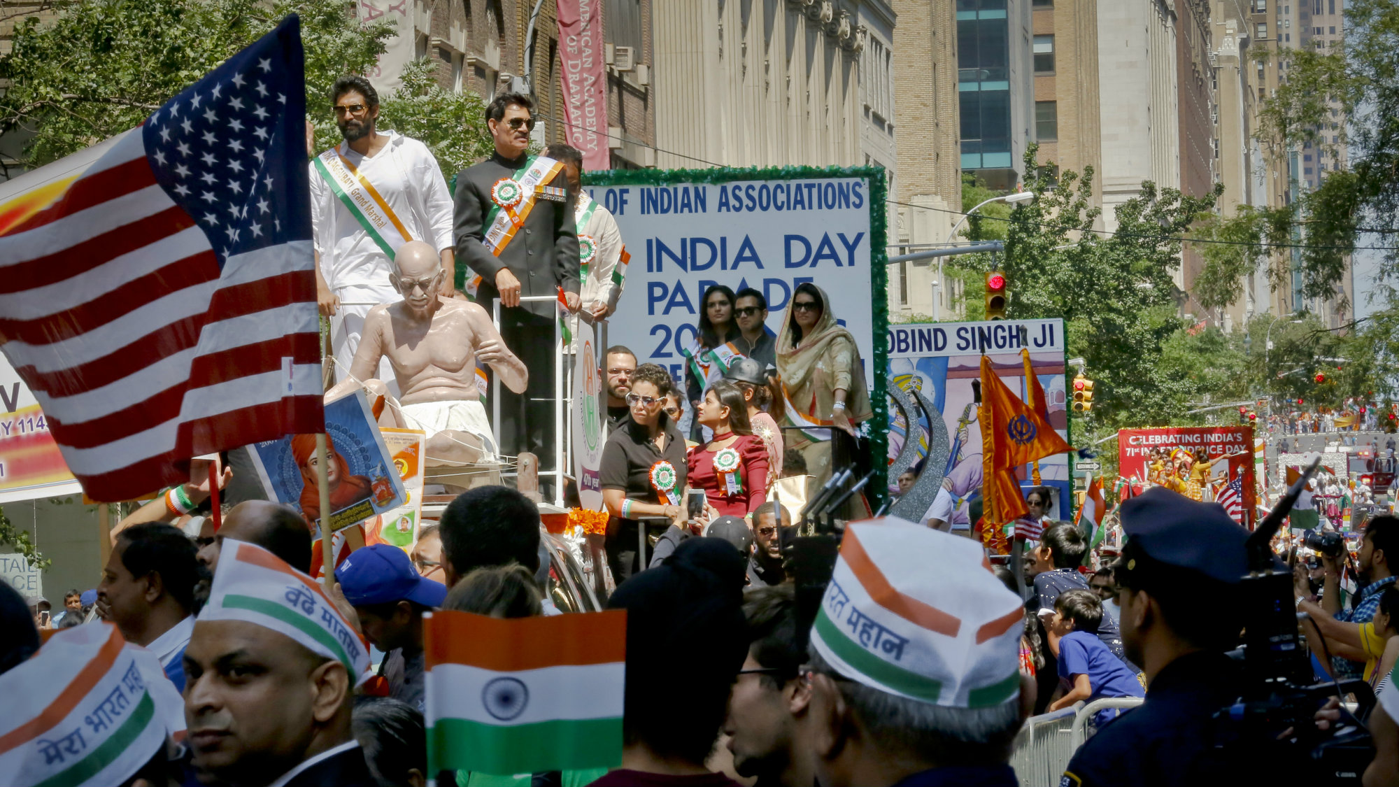 Scene during India Day parade, celebrating the 71st independence day of India, Sunday Aug. 20, 2017, in New York