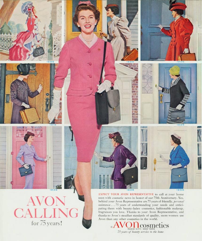 vintage avon poster