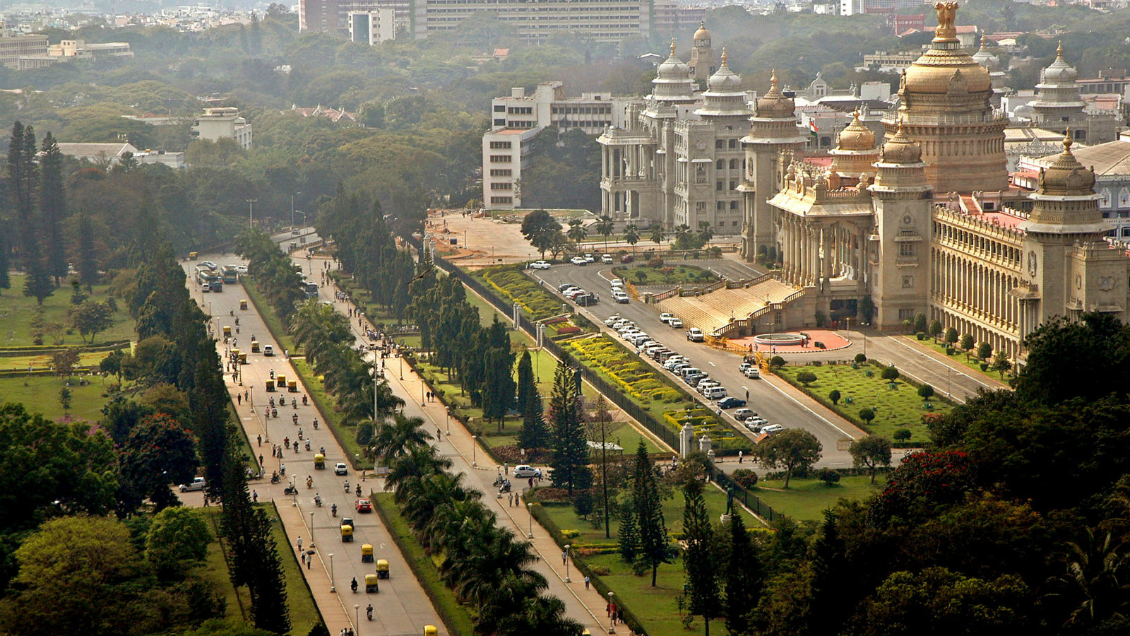 A panoramic view of Bangalore from 2005.