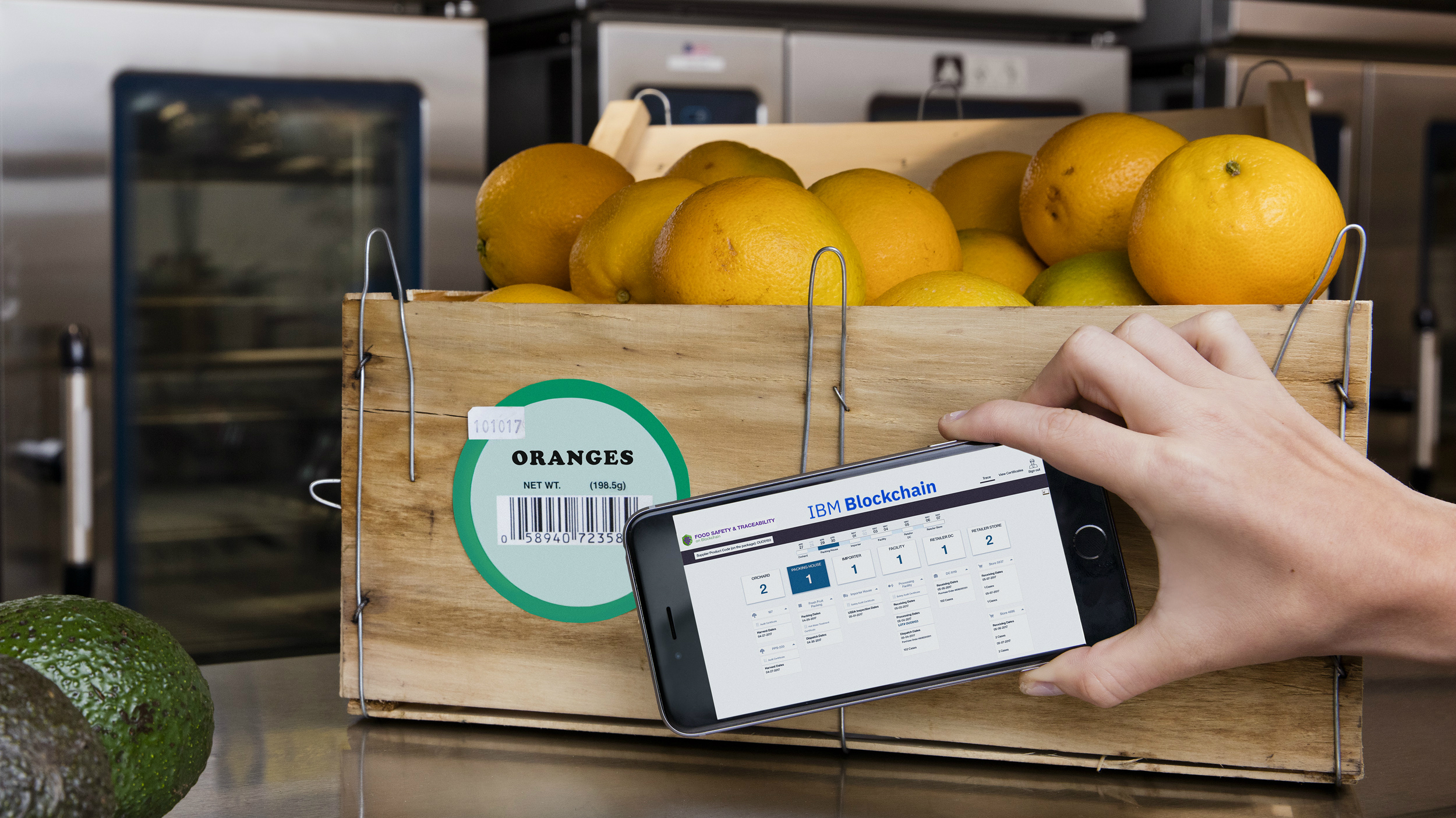 Using cryptocurrency tech to keep food fresh.