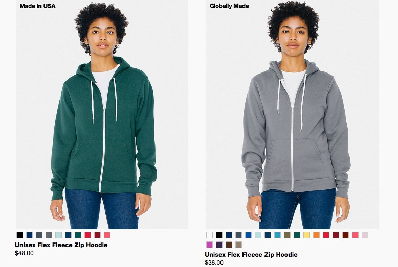 American Apparel's Made in USA capsule collection