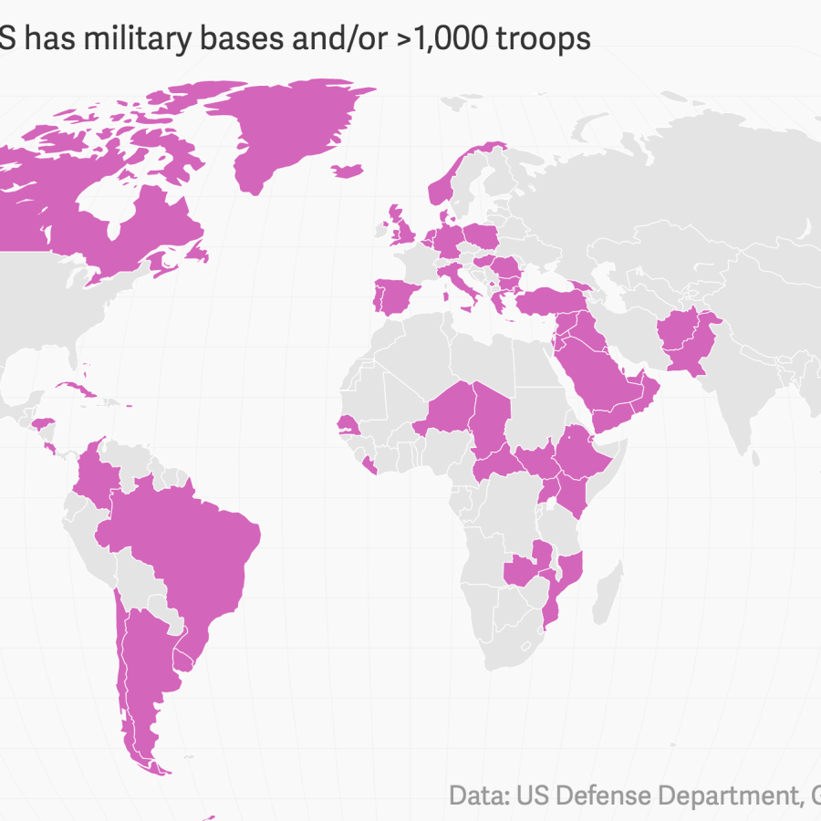 Where does the US military have bases in the world? — Quartz