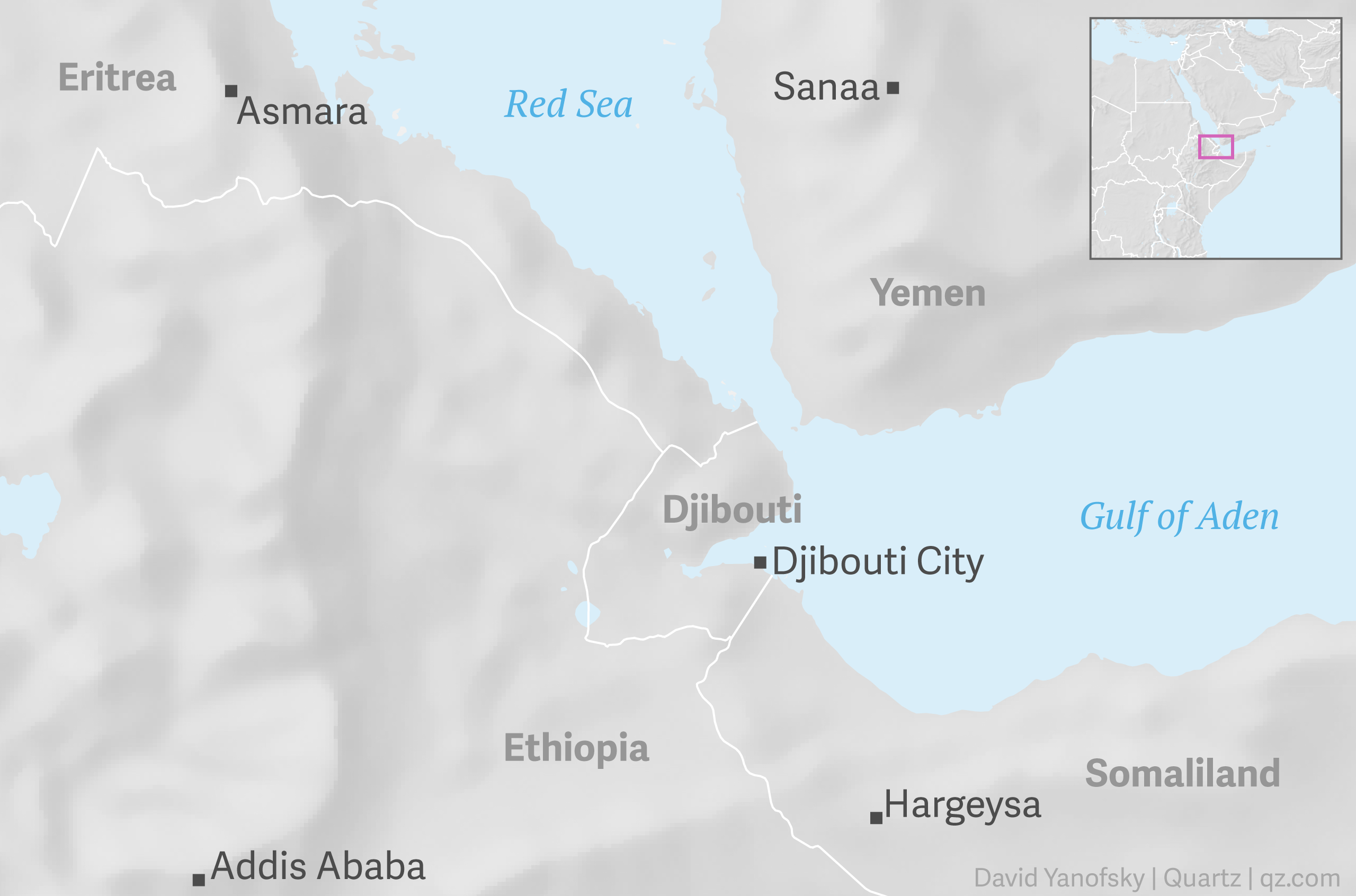 Djibouti On Africa Map.Why Are There So Many Military Bases In Djibouti Quartz Africa