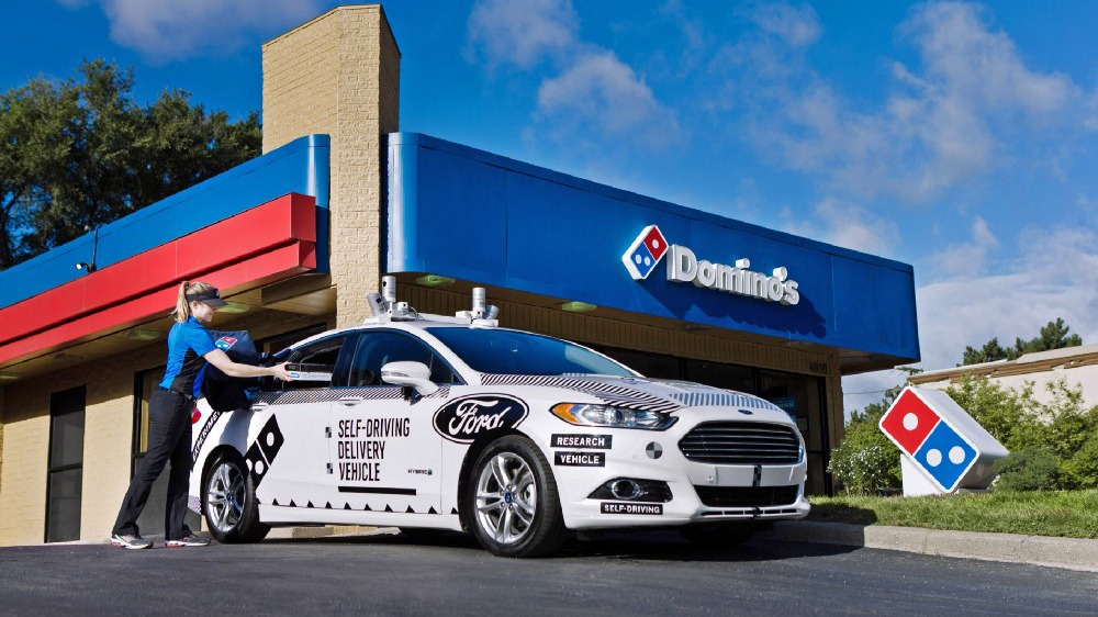 dominos ford self-driving car pizza delivery