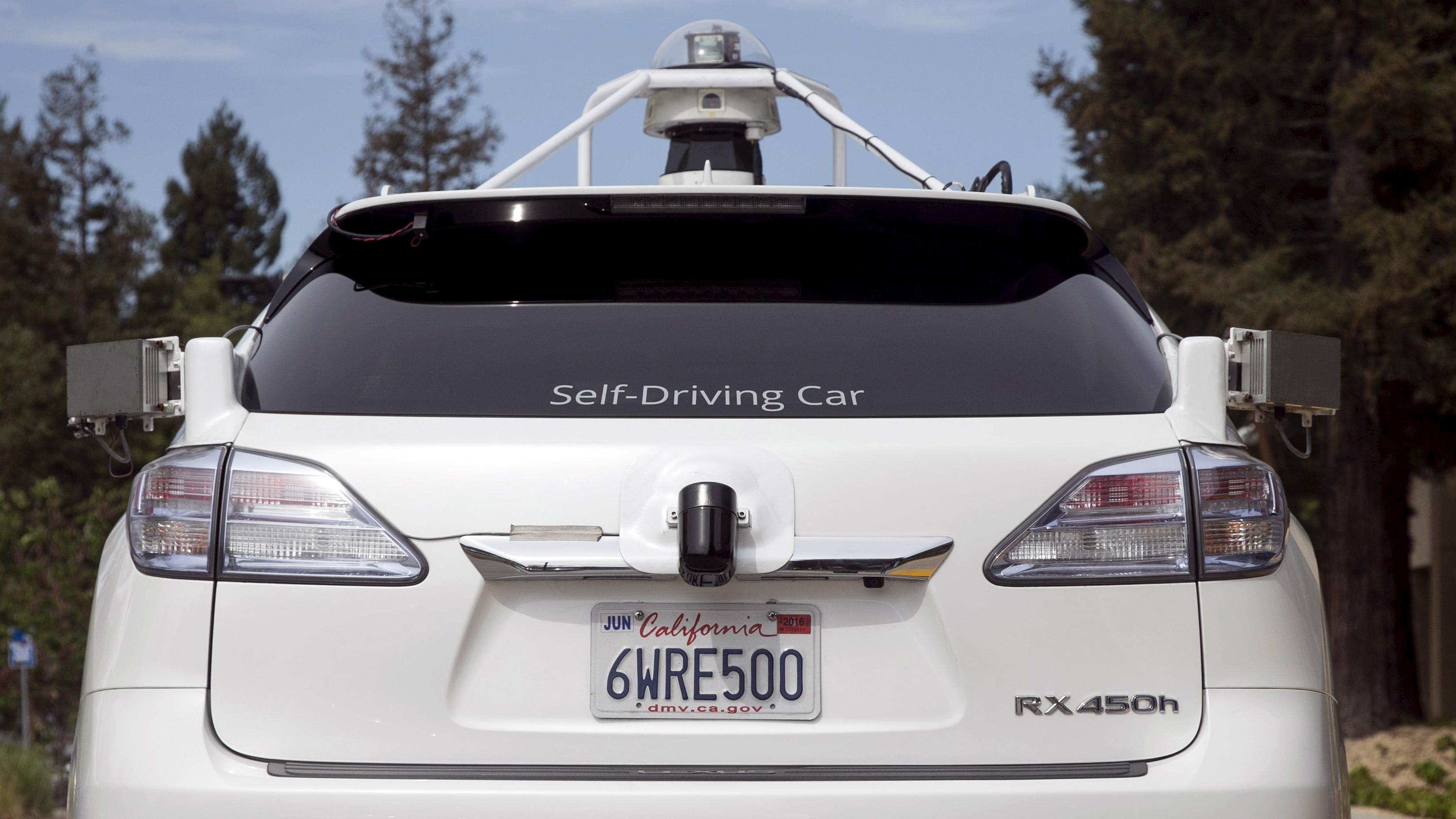 A driverless car.