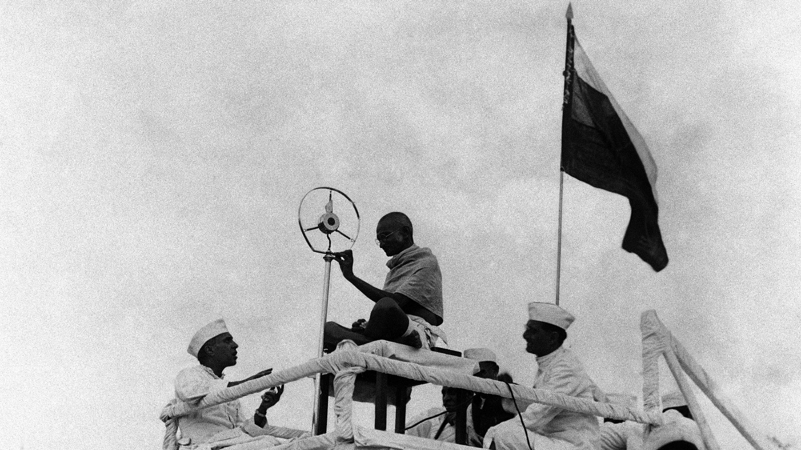 Mahatma Gandhi at the Azad Maidan in Mumbai in April 1931.