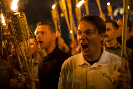 "Charlottesville torch photo: White nationalist Peter Cytanovic wants people  to know he is not ""an evil Nazi"" — Quartz"