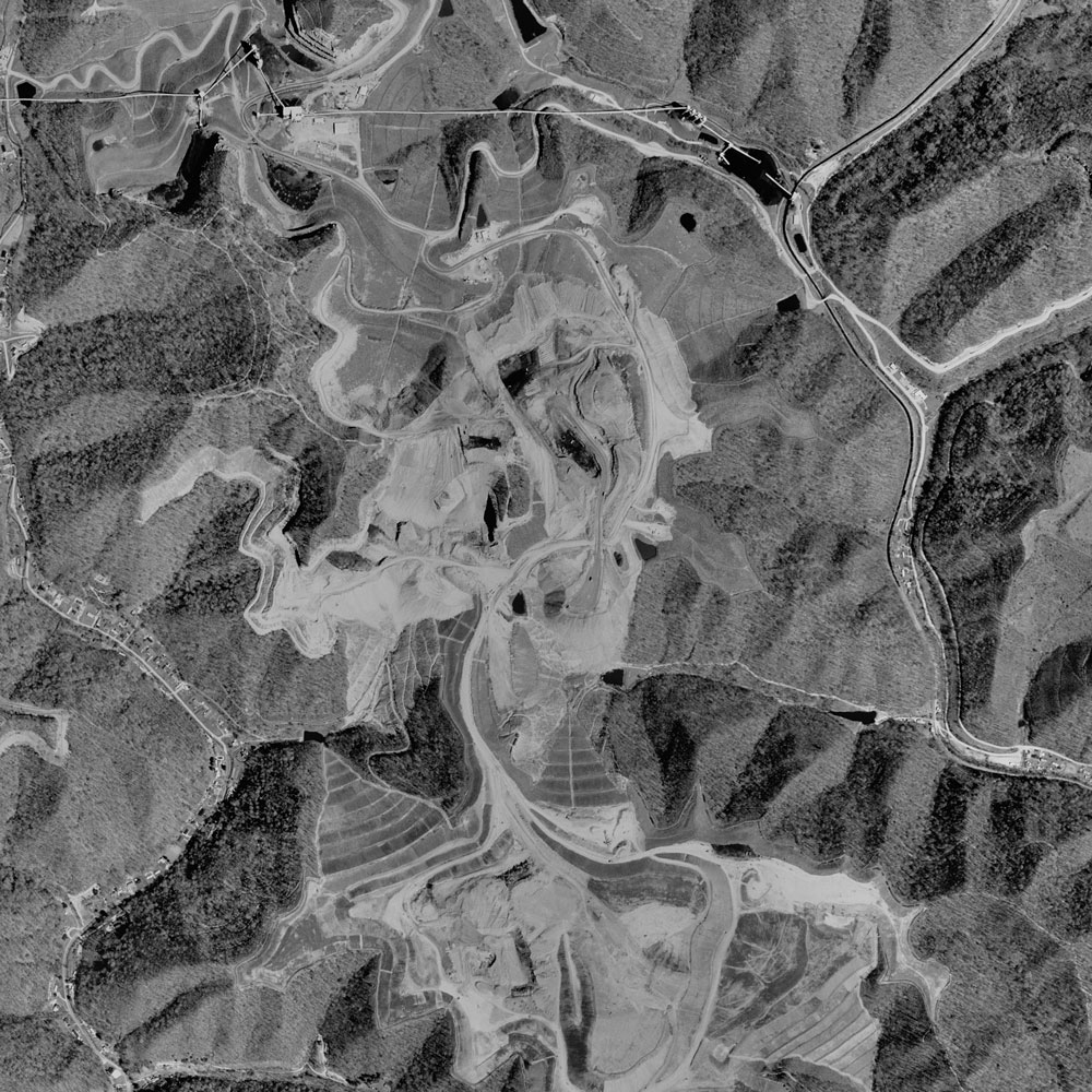 Image of the mined area in 1996