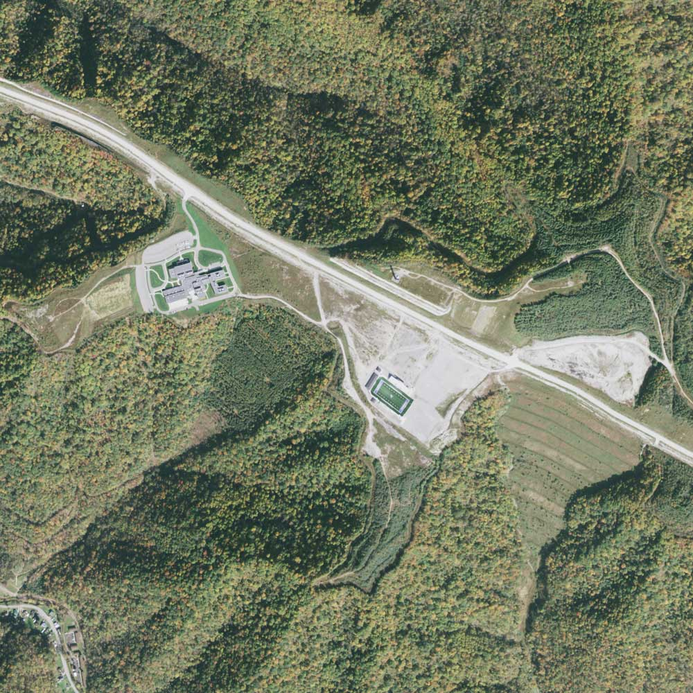Image of the mined area in 2014