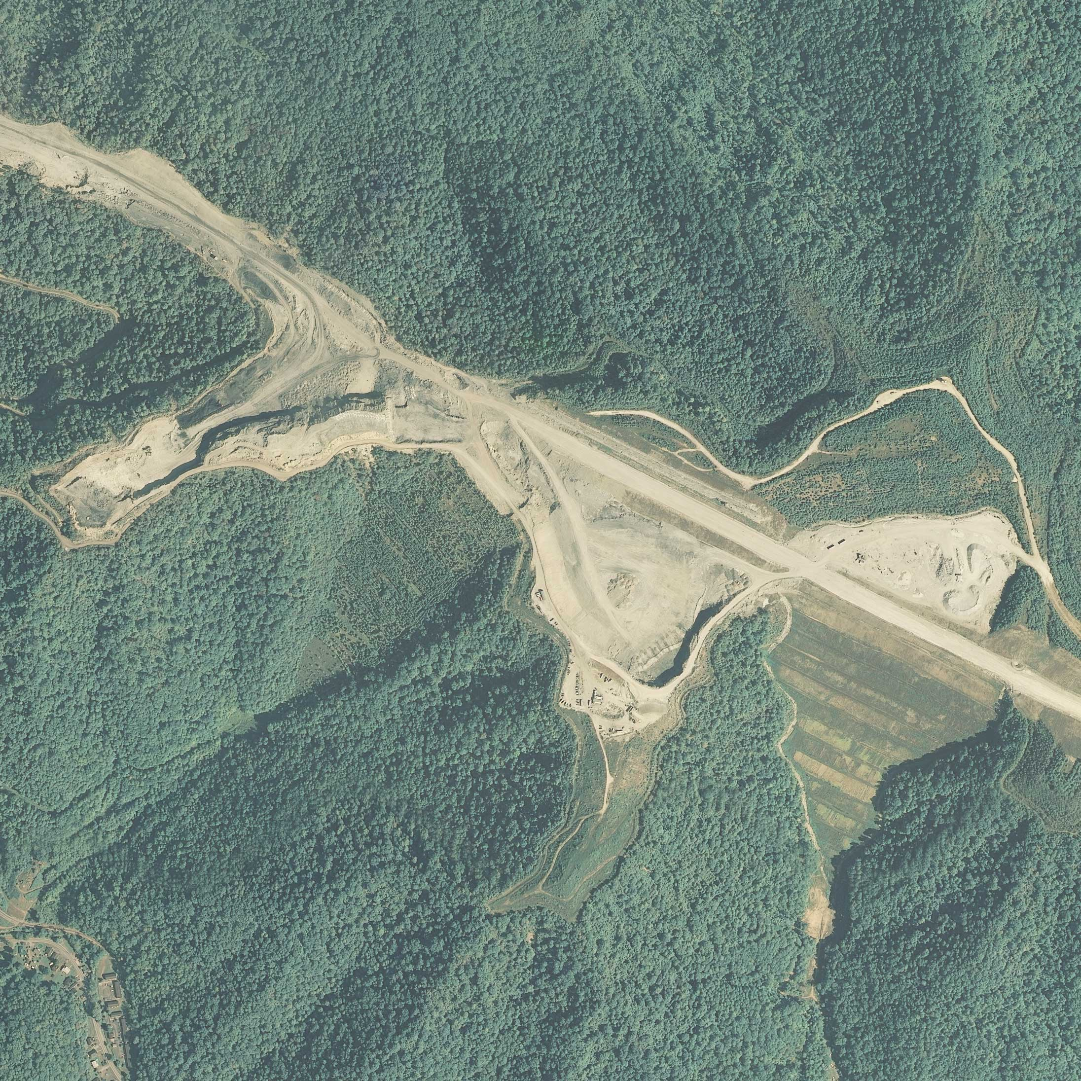 Image of the mined area in 2007