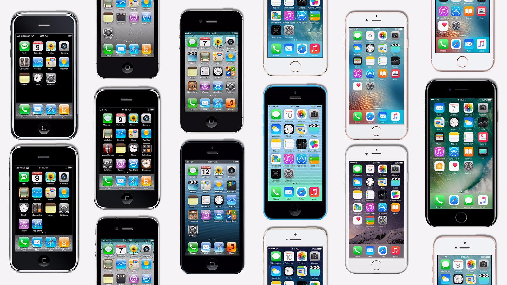 iphones over the years
