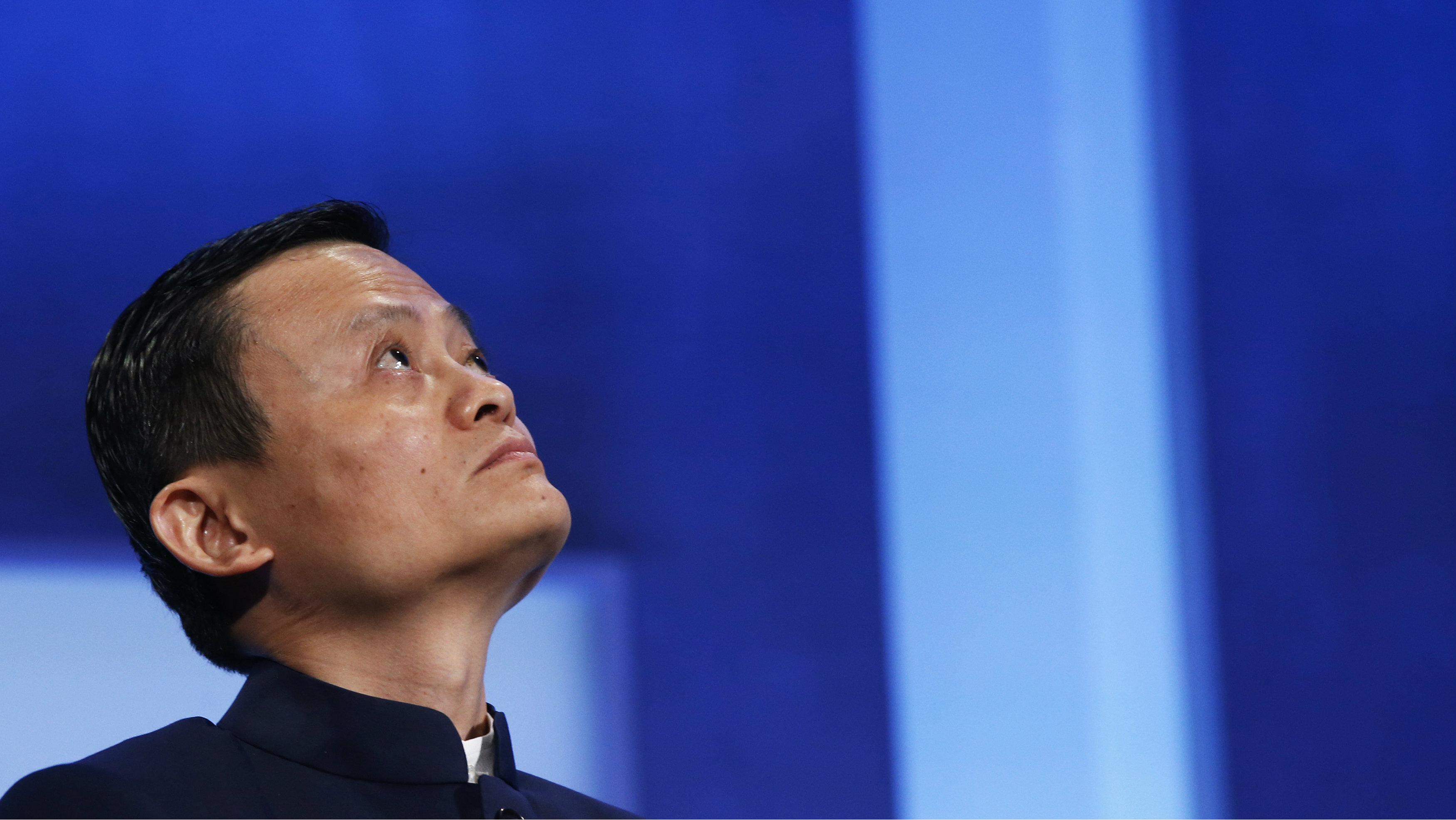 """Alibaba Group Holding Ltd founder Jack Ma listens to a speaker during the plenary session titled """"Valuing What Matter"""" at the Clinton Global Initiative 2014 (CGI) in New York, September 23, 2014. The CGI was created by former U.S. President Bill Clinton in 2005 to gather global leaders to discuss solutions to the world's problems."""
