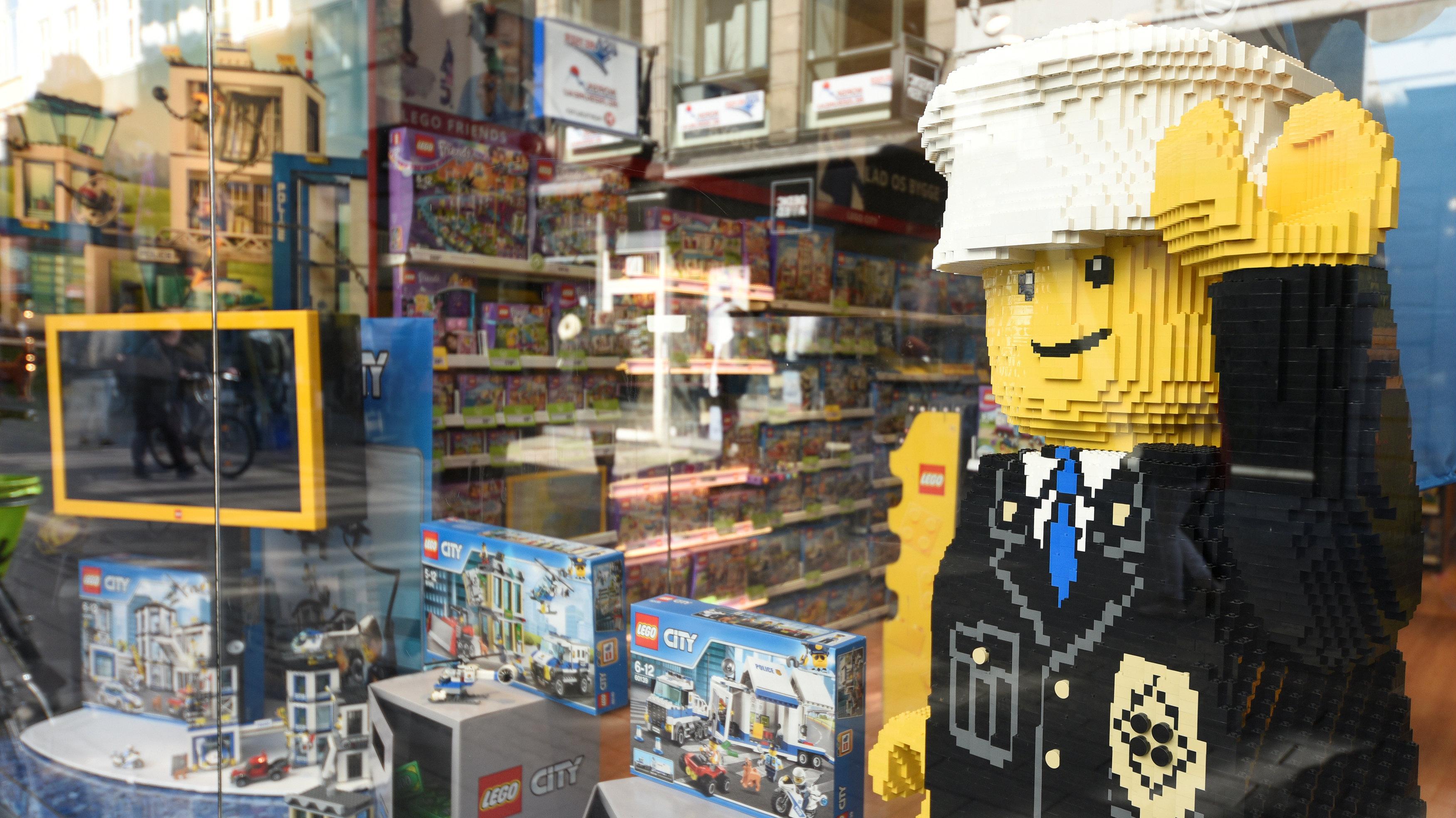 Window of a LEGO shop in Copenhagen
