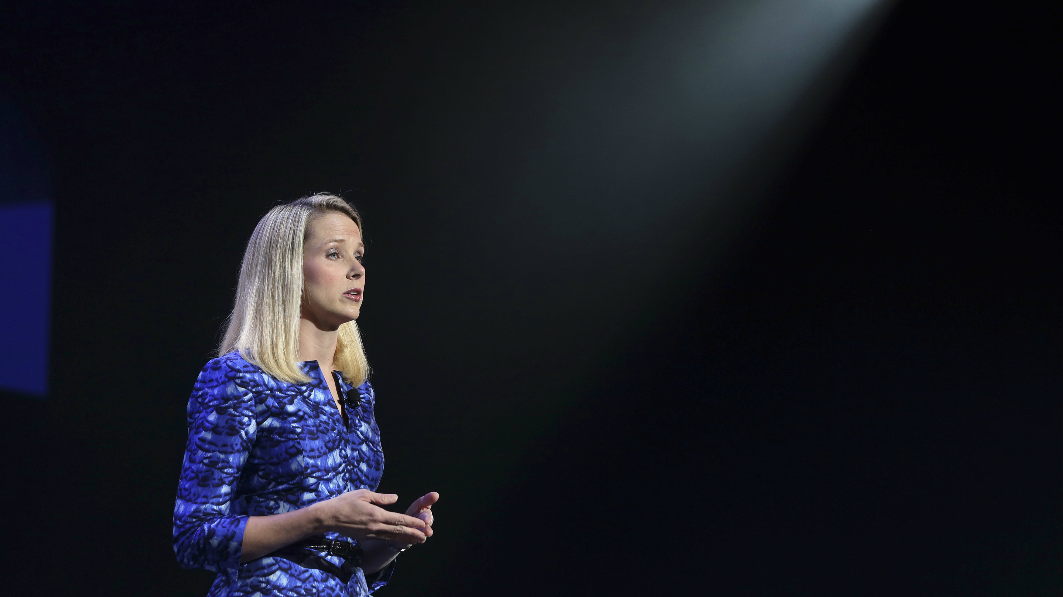 Yahoo CEO Marissa Mayer delivers her keynote address at the annual Consumer Electronics Show