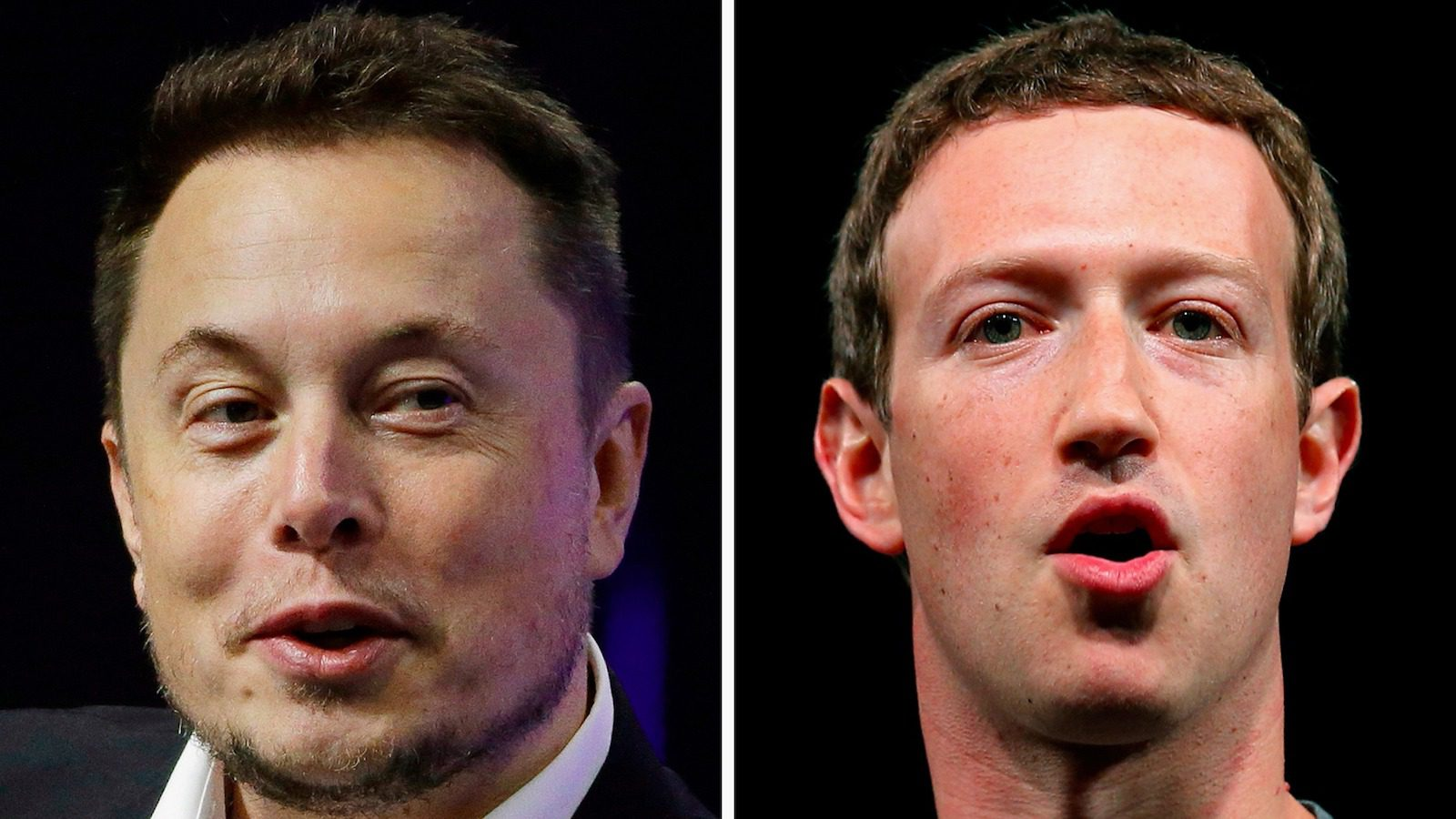 This combo of file images shows Facebook CEO Mark Zuckerberg, left, and Tesla and SpaceX CEO Elon Musk. An online smackdown between tech titans Zuckerberg and Musk over the possible threat of artificial intelligence underlines how little most people know about the rapidly advancing technology. (AP Photo/Manu Fernandez, Stephan Savoia)