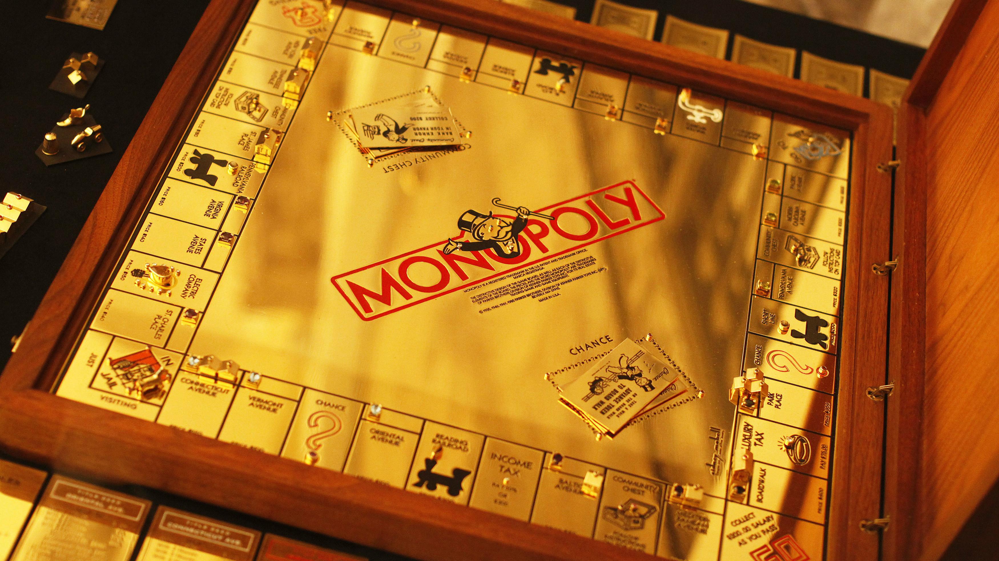 A monopoly set.