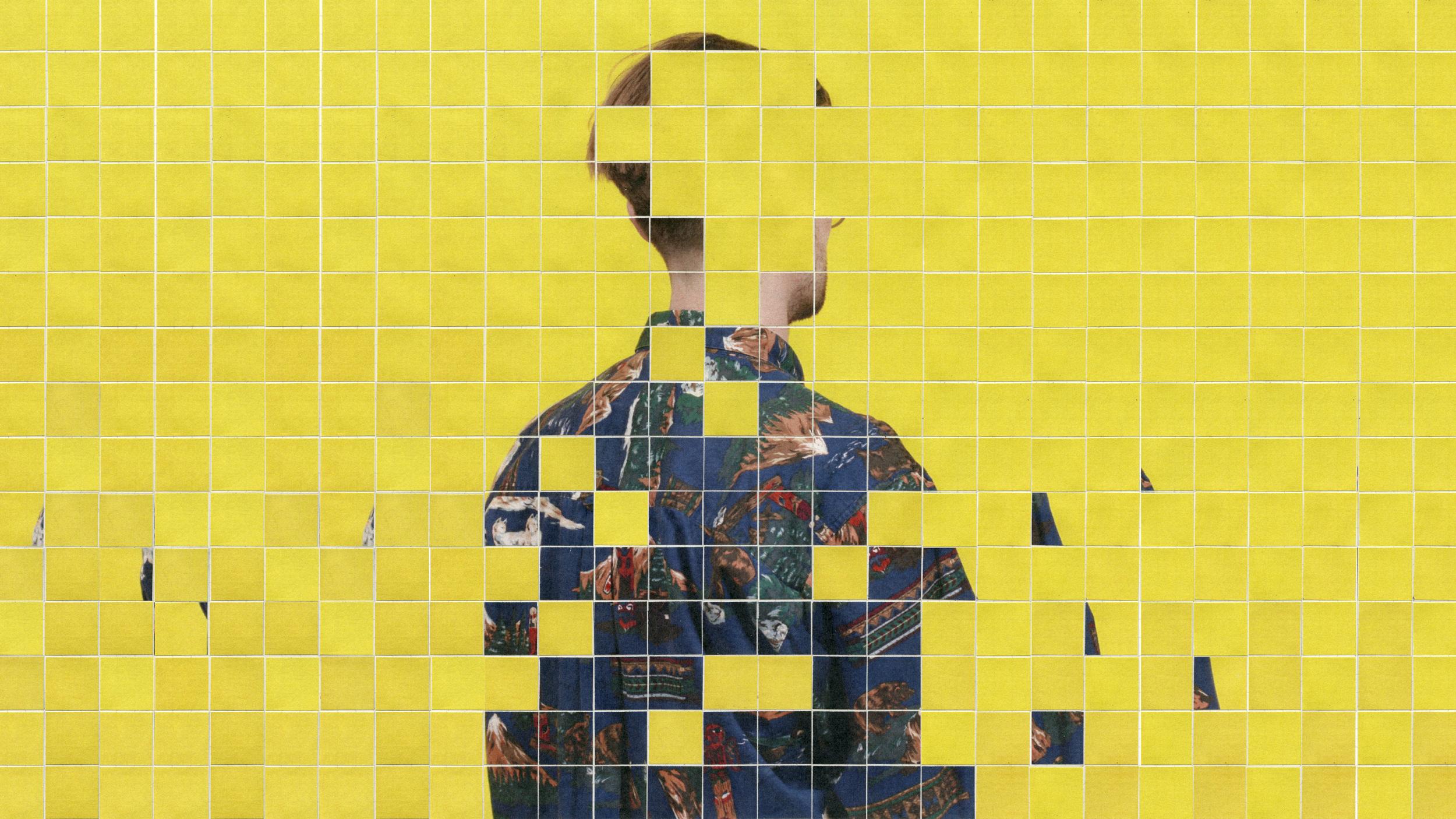 man in mosaic