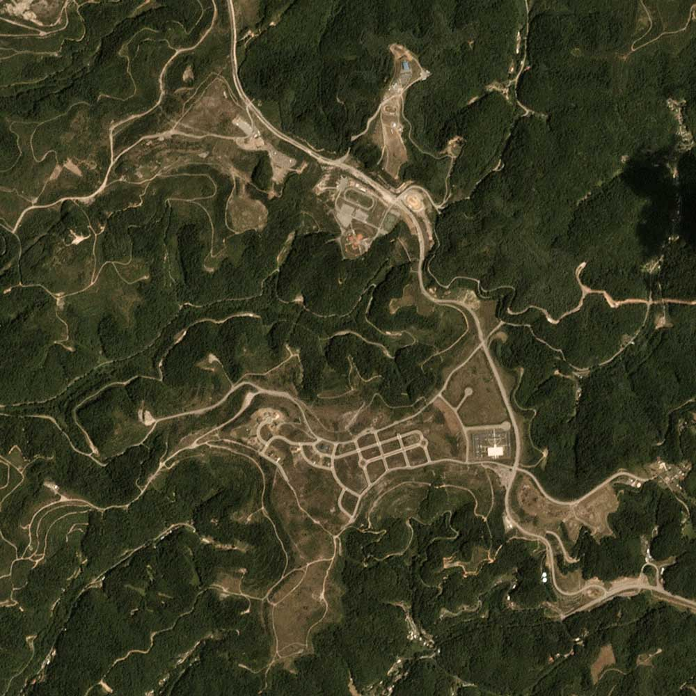 Image of the mined area in 2017