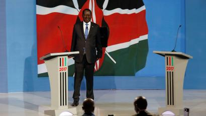 Kenyan opposition leader Raila Odinga, the presidential candidate of the National Super Alliance (NASA) coalition, attends a Presidential Debate ahead of a general election in Nairobi, Kenya, July 24,