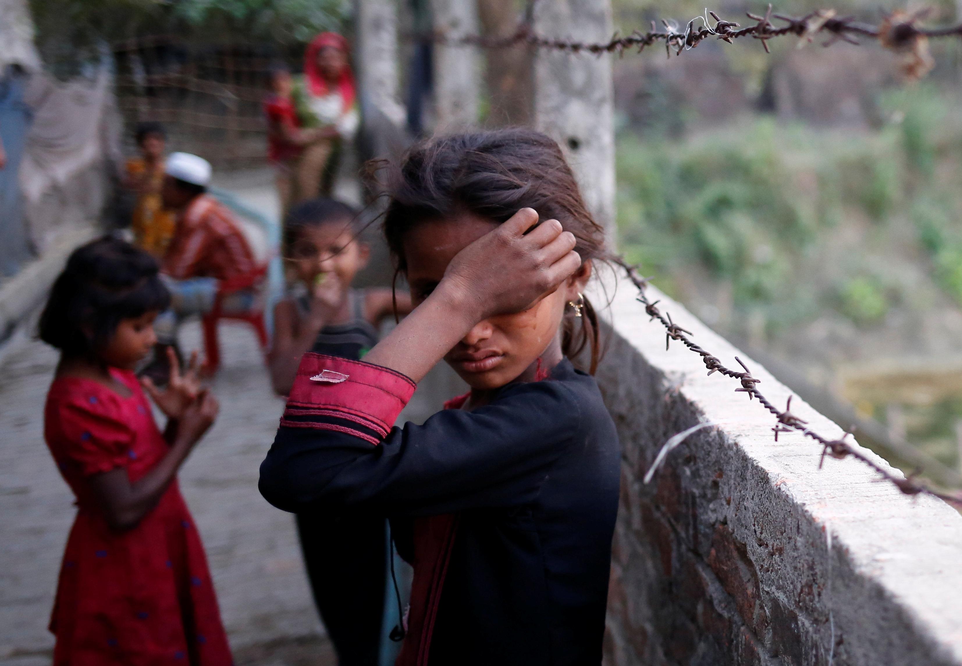 A refugee girl