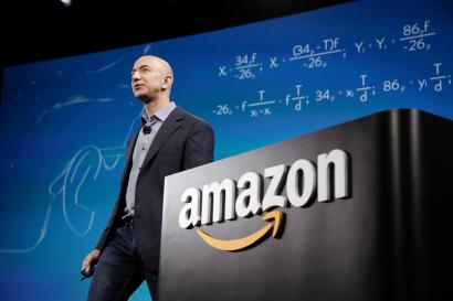 Amazon CEO Jeff Bezos presenting