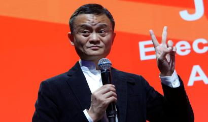 Jack Ma, Founder and Executive Chairman of Alibaba Group Holding, addresses the media during the inaugural Gateway '17 event at Cobo Center in Detroit, Michigan, U.S., June 20, 2017. REUTERS/Rebecca Cook - RTS17XHM