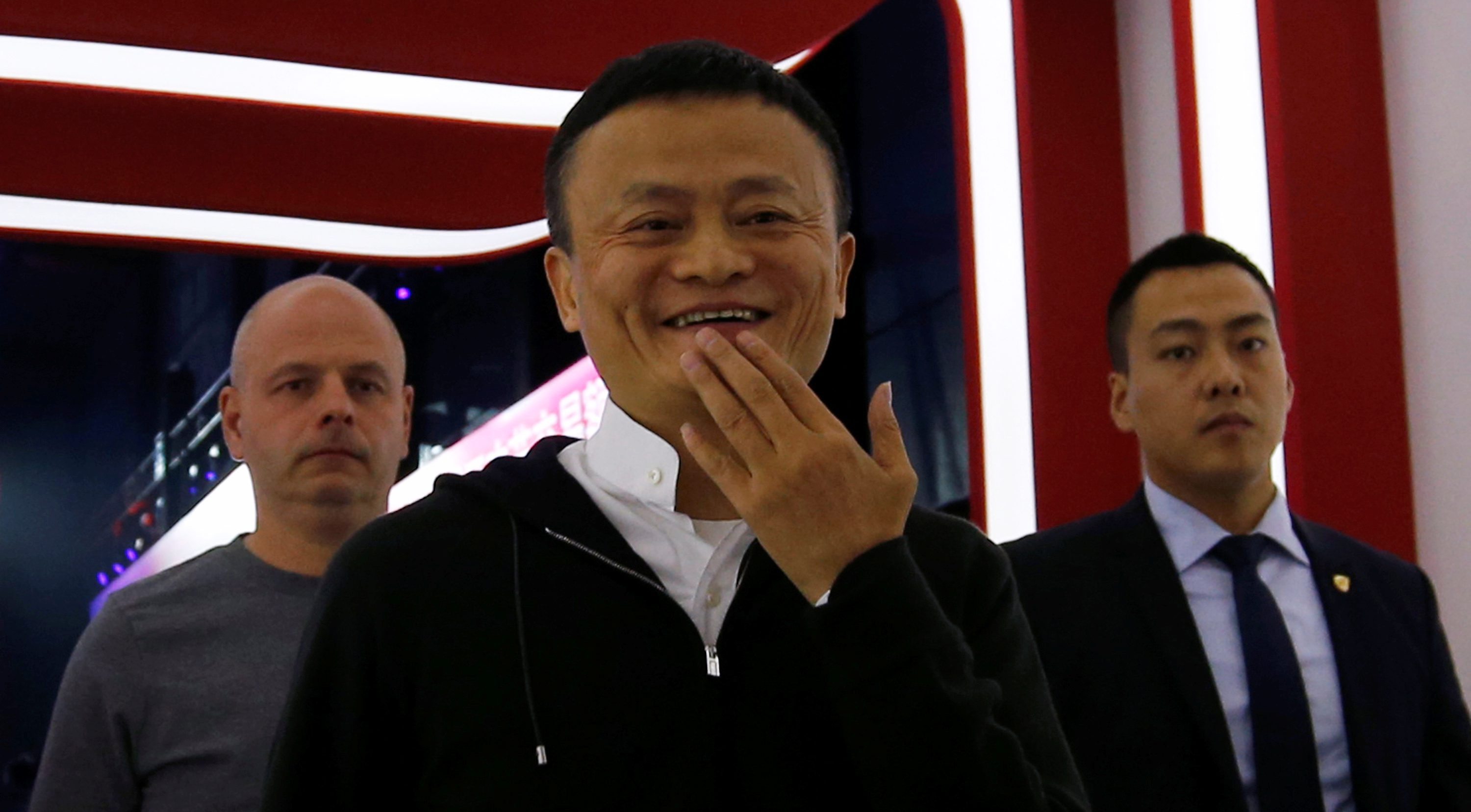 Founder and Executive Chairman of Alibaba Group Jack Ma leaves after speaking at Alibaba Group's 11.11 Singles' Day global shopping festival in Shenzhen, China, November 11, 2016. REUTERS/Bobby Yip - RTX2T8DH