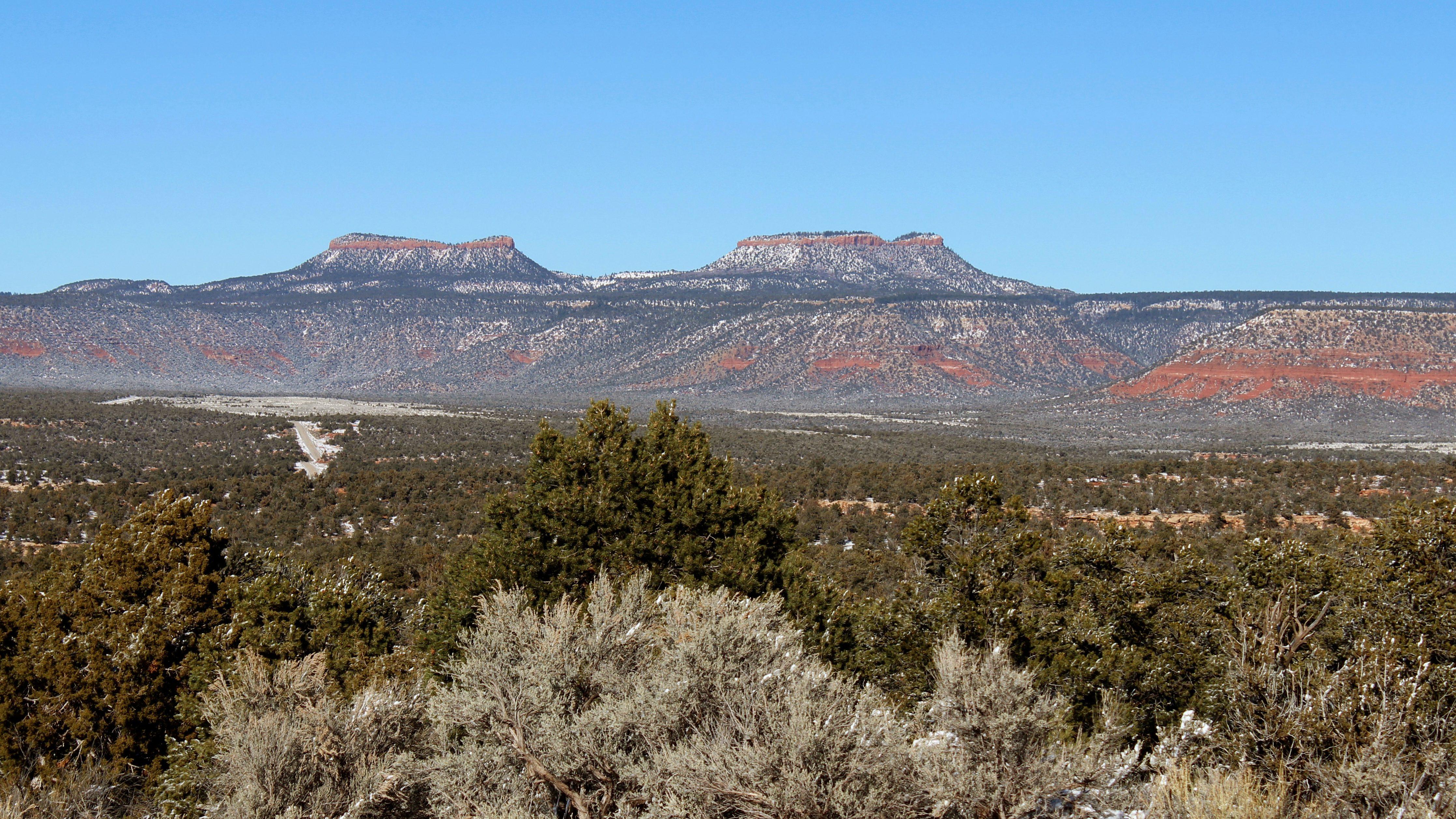 Bears Ears, the twin rock formations in Utah's Four Corners region is pictured in Utah, U.S. December 19, 2016. Picture taken December 19, 2016.    - RC1437AFFA70