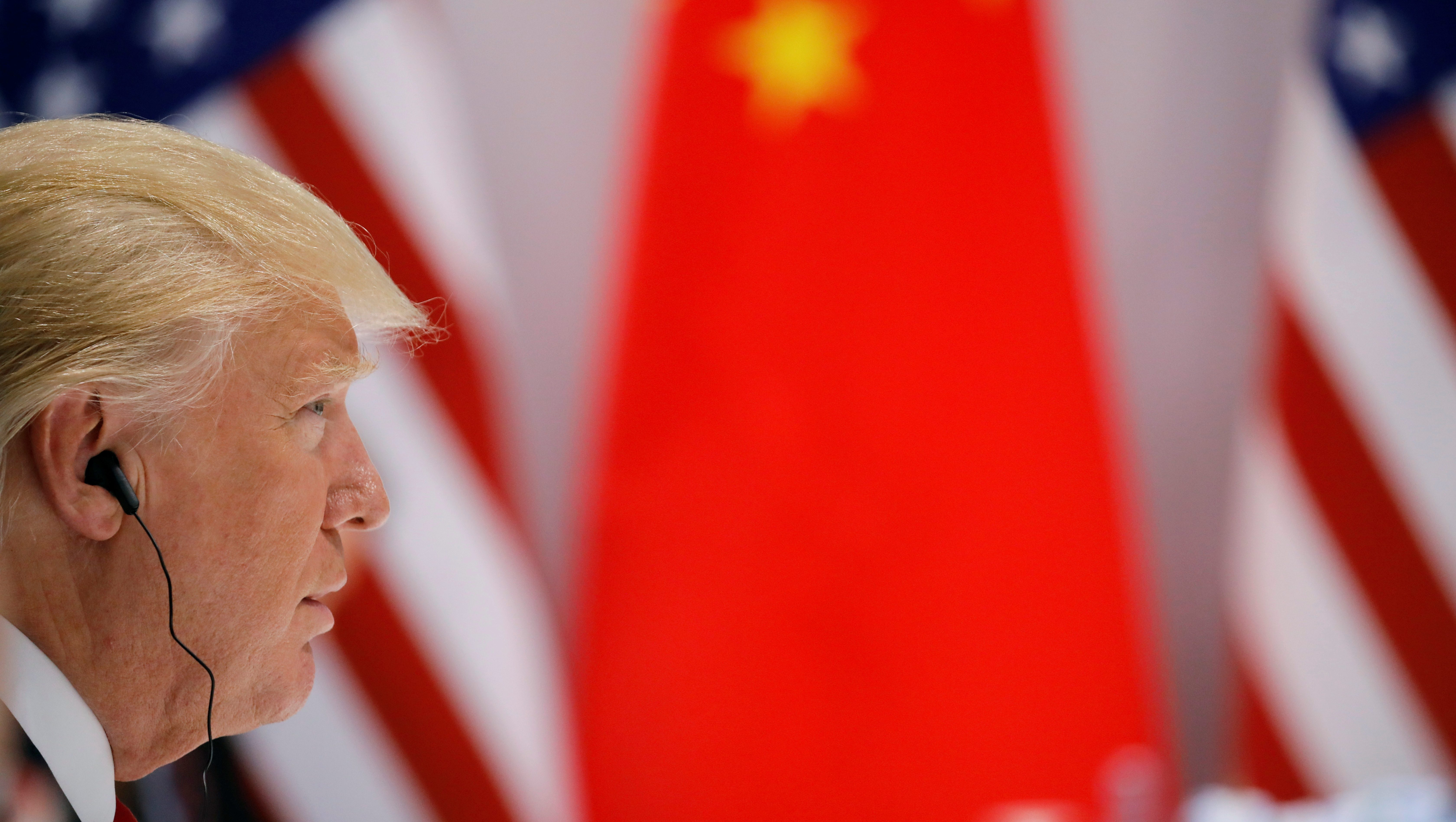 U.S. President Donald Trump attends the bilateral meeting with Chinese President Xi Jinping at the G20 leaders summit in Hamburg, Germany July 8, 2017.