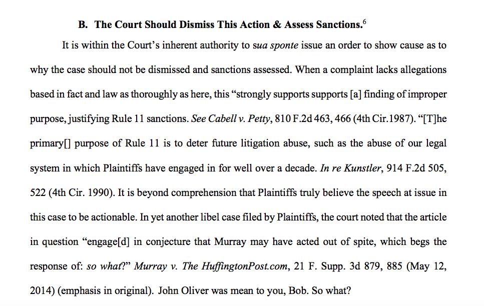 ACLU for John Oliver.